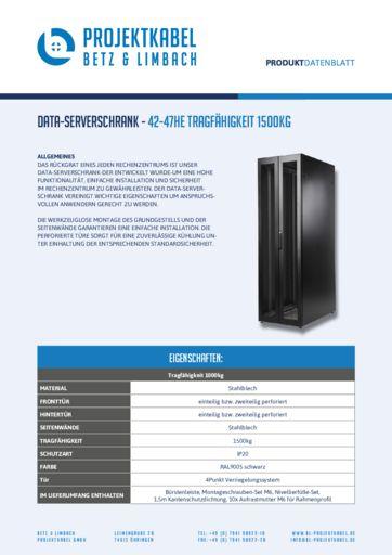 thumbnail of Data-Serverschrank – 42-47HE Tragfähigkeit 1500kg