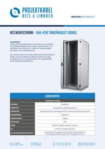thumbnail of Netzwerkschrank – 15HE-47HE Tragfähigkeit 1000kg