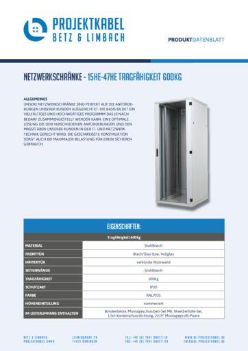 thumbnail of Netzwerkschrank – 15HE-47HE Tragfähigkeit 600kg
