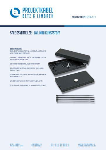 thumbnail of Spleißverteiler – LWL Mini Kunststoff