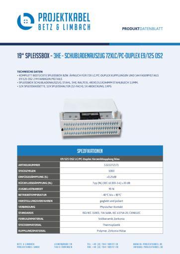 thumbnail of SPLEISSBOX-3HE-SCHUBLADENAUSZUG-72XLC-PC-DUPLEX-E9-125-OS2