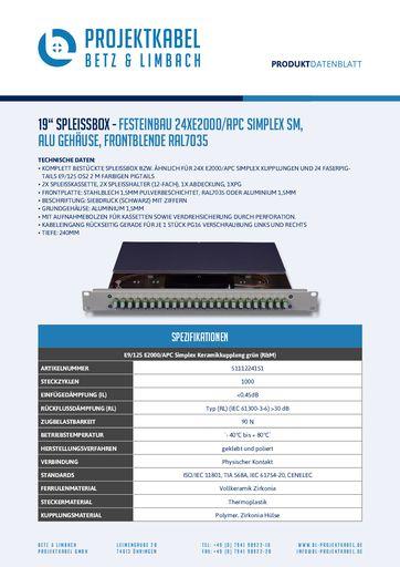 thumbnail of SPLEISSBOX – FESTEINBAU 24XE2000-APC SIMPLEX SM, ALU, FRONTBLENDE RAL7035