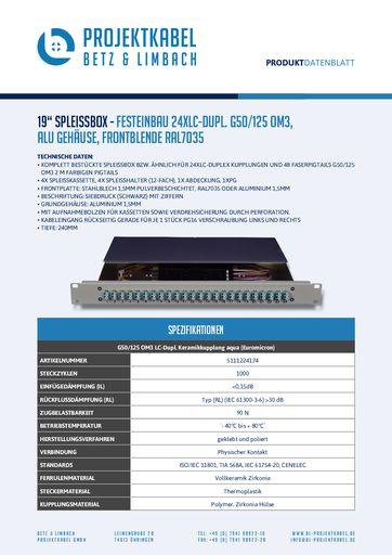 thumbnail of SPLEISSBOX – FESTEINBAU 24XLC-DUPL G50-125 OM3, ALU, FRONTBLENDE RAL7035