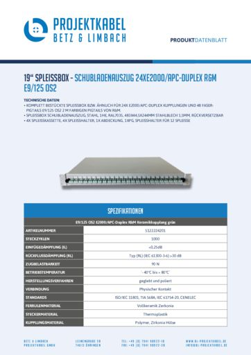 thumbnail of SPLEISSBOX-SCHUBLADENAUSZUG-24XE2000-APC-DUPLEX-R&M-E9-125-OS2