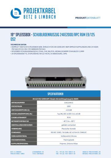 thumbnail of SPLEISSBOX – SCHUBLADENAUSZUG 24XE2000-APC R&M E9-125 OS2