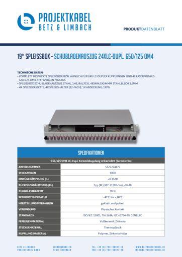 thumbnail of SPLEISSBOX – SCHUBLADENAUSZUG 24XLC-DUPL G50-125 OM4