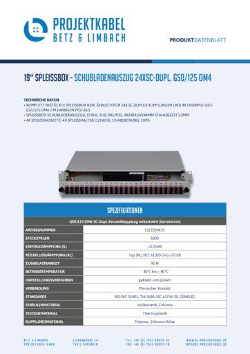 thumbnail of SPLEISSBOX – SCHUBLADENAUSZUG 24XSC-DUPL G50-125 OM4
