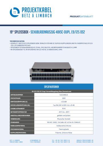thumbnail of SPLEISSBOX – SCHUBLADENAUSZUG 48XSC-DUPL E9-125 OS2