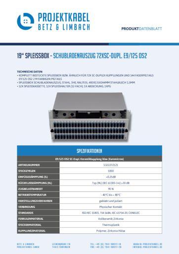 thumbnail of SPLEISSBOX – SCHUBLADENAUSZUG 72XSC-DUPL E9-125 OS2