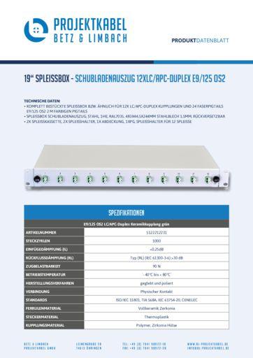 thumbnail of SPLEISSBOX_SCHUBLADENAUSZUG-12XLC-APC-DUPLEX-E9-125-OS2