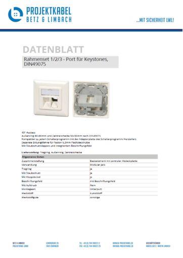 thumbnail of Rahmenset für Keystone Adapter