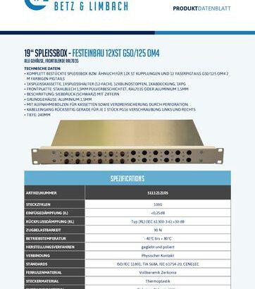 """thumbnail of 19"""" Spleissbox – FESTEINBAU 12xST G50:125 OM4"""