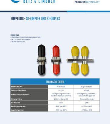 thumbnail of Kupplung – ST-Simplex und ST-Duplex