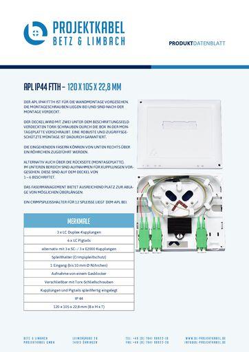 thumbnail of APL IP44 FTTH – 120 x 105 x 22,8 mm